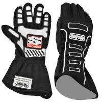 SUMMER SIZZLER SALE! - Racing Glove Sale - Simpson Performance Products - Simpson Competitor Glove - External Seam - Black - X-Large