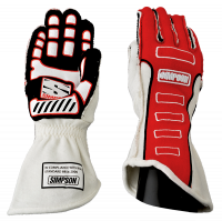 SUMMER SIZZLER SALE! - Racing Glove Sale - Simpson Performance Products - Simpson Competitor Glove - External Seam - Red - Medium