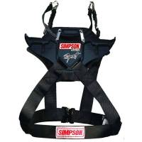 "Kids Race Gear - Kids Head & Neck Restraints - Simpson Performance Products - Simpson Hybrid Sport - Youth - Chest 26""-30"" - Quick Release Tethers - D-Ring Kit"
