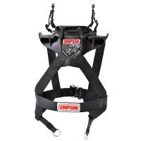 "Kids Race Gear - Kids Head & Neck Restraints - Simpson Performance Products - Simpson Hybrid Sport - X-Small - Child w/ SAS - Chest 22""-23"" - 10"" Fixed Quick Release Tethers - D-Ring Kit"