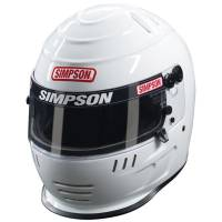 Kids Race Gear - Kids Helmets - Simpson Performance Products - Simpson Jr. Speedway Shark Helmet - White - Medium