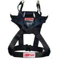 Head & Neck Restraints - Simpson Hybrid - Simpson Performance Products - Simpson Hybrid Sport - Medium - Sliding Tether - Post Clip Tethers - Post Anchors