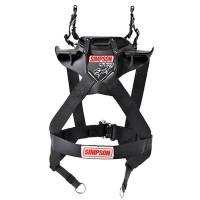 Head & Neck Restraints - Simpson Hybrid - Simpson Performance Products - Simpson Hybrid Sport - Large - Sliding Tether w/ SAS - Post Clip Tethers - Post Anchors