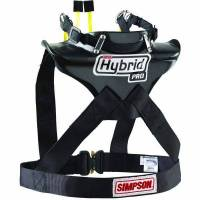 Head & Neck Restraints - Simpson Hybrid - Simpson Performance Products - Simpson Hybrid ProLite - Medium - Sliding Tether - Quick Release Tethers - D-Ring Kit