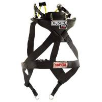 Head & Neck Restraints - Simpson Hybrid - Simpson Performance Products - Simpson Hybrid ProLite - Large - Sliding Tether w/ SAS - Quick Release Tethers - D-Ring Kit