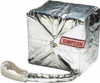 Safety Equipment - Simpson Performance Products - Simpson 14 Ft. Professional Parachute w/ Kevlar Shroud Lines - Red