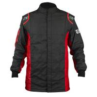 Racing Suits - Drag Racing Suits - K1 RaceGear - K1 RaceGear Sportsman Jacket (Only) - Black/Red - Size: 2X-Large / Euro 64
