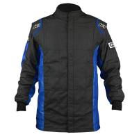 Racing Suits - Drag Racing Suits - K1 RaceGear - K1 RaceGear Sportsman Jacket (Only) - Black/Blue - Size: 2X-Large / Euro 64