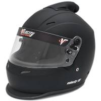 SUMMER SIZZLER SALE! - Velocity Race Gear - Velocity 15 Top Forced Air Helmet - Flat Black - Medium