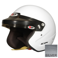 B2 Helmets - B2 Icon Helmet - Metallic Silver - Large