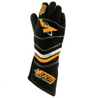 LABOR DAY SALE! - Racing Glove Sale - Velocity Race Gear - Velocity 5 Sprint Glove - Black/Fluo Orange - Small