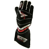 LABOR DAY SALE! - Racing Glove Sale - Velocity Race Gear - Velocity 5 Race Glove - External Seam - Black/Red - X-Large