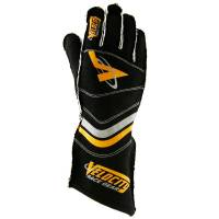 LABOR DAY SALE! - Racing Glove Sale - Velocity Race Gear - Velocity 5 Race Glove - External Seam - Black/Fluo Orange - X-La...