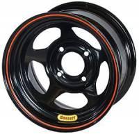 "Bassett Wheels - Bassett Inertia Advantage Wheels - Bassett Racing Wheels - Bassett Racing Wheels 13x8 4x4.25"" 5"" BS Black"