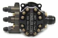 Sprint Car & Open Wheel - Kinsler Fuel Injection - Kinsler Fuel Injection Tough Pump 450 Inline Fuel Pump - Hex Driven - 12 AN Male Inlet - Three 6 AN Male Outlets - Aluminum - Black Anodized - Alcohol / E85 / Gas