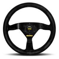 Steering Components - Momo - Momo MOD 69 Steering Wheel Black Suede