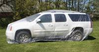 Body & Exterior - Woodward Fab - Woodward Fab Moisture Resistant Car Cover - 22 Ft. Long - Plastic - Clear