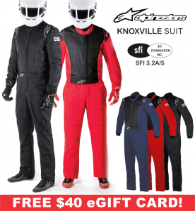 Racing Suits - Alpinestars Racing Suits - Alpinestars Knoxville Suit - CLEARANCE $299.88 - SAVE $100.07
