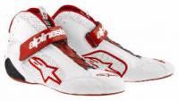 SUMMER SIZZLER SALE! - Racing Shoe Sale - Alpinestars - Alpinestars Tech 1-Z Shoes - White/Red - Size 9