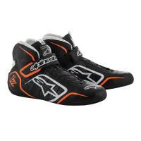 SUMMER SIZZLER SALE! - Racing Shoe Sale - Alpinestars - Alpinestars Tech 1-Z v1 Shoes - Black/White/Orange - Size 9.5