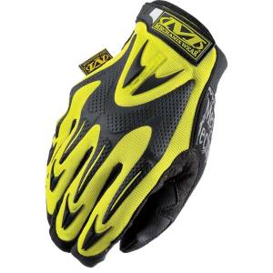 Gloves - Mechanix Wear Gloves - Mechanix Wear The Hi-Viz M-Pact E5 Cut-Resistant Impact Gloves