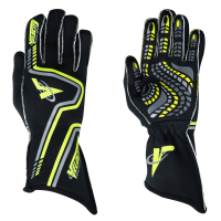 Velocity Race Gear Gloves - Velocity Grip Glove - SALE $79.99 - SAVE $20 - Velocity Race Gear - Velocity Grip Glove - Black/Fluo Yellow/Silver - Small