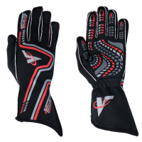 Velocity Race Gear Gloves - Velocity Grip Glove - SALE $79.99 - SAVE $20 - Velocity Race Gear - Velocity Grip Glove - Black/Silver/Red - Small