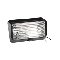 "Trailer Lights and Components - Trailer Porch / Utility Lights - Bargman - Bargman 78 Series Trailer Porch Light - 5-15/16 x 3-1/2 x 2"" - Clear Lens - Plastic"