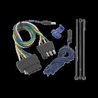 Tow Ready - Tow Ready Trailer Plug Adapter - 4 Way Flat to 5 Way Flat - Plastic - Black