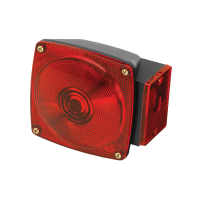"""Wesbar - Wesbar 80 Series 6 Function Trailer Light - 4-1/2"""" x 4-3/4"""" - Red Lens / Black Base - Trailers over 80"""""""