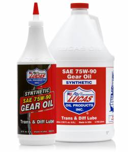 Oils, Fluids and Additives - Gear Oil - Lucas SAE 75W-90 Synthetic Gear Oil