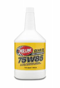 Oils, Fluids and Additives - Gear Oil - Red Line 75W-85 GL-5 Synthetic Gear Oil
