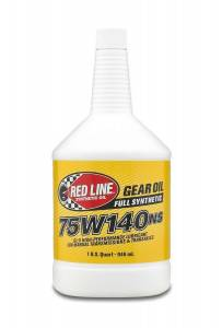Oils, Fluids and Additives - Gear Oil - Red Line 75W-140NS GL-5 Synthetic Gear Oil