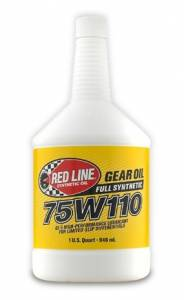 Oils, Fluids and Additives - Gear Oil - Red Line 75W-110 GL-5 Synthetic Gear Oil