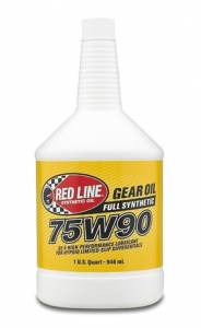 Oils, Fluids and Additives - Gear Oil - Red Line 75W-90 GL-5 Synthetic Gear Oil