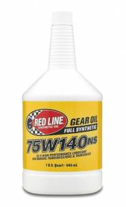 Oils, Fluids and Additives - Gear Oil - Red Line 75W-140 GL-5 Synthetic Gear Oil