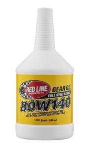 Oils, Fluids and Additives - Gear Oil - Red Line 80W-140 GL-5 Synthetic Gear Oil