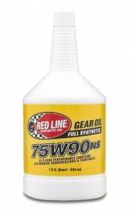 Oils, Fluids and Additives - Gear Oil - Red Line 75W-90NS GL-5 Synthetic Gear Oil