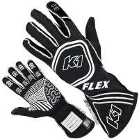 K1 RaceGear - K1 Racegear Flex Nomex Driver's Gloves - Black/White - Large