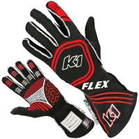 K1 RaceGear - K1 Racegear Flex Nomex Driver's Gloves - Black/Red - X-Large