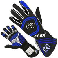 K1 RaceGear - K1 Racegear Flex Nomex Driver's Gloves - Black/Blue - Small