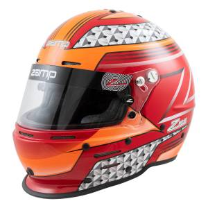 Helmets - Zamp Helmets - Zamp RZ-62 Graphic Helmet - Red/Orange - Snell SA2020 - SALE $359.96 - SAVE $39.99