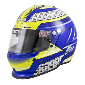 Helmets - Zamp Helmets - Zamp RZ-62 Graphic Helmet - Blue/Green - Snell SA2020 - SALE $359.96 - SAVE $39.99