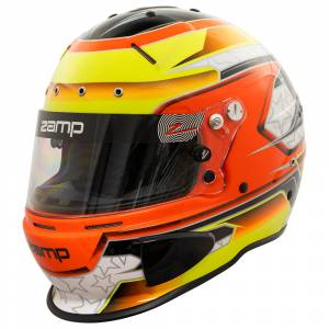 Helmets - Zamp Helmets - Zamp RZ-70E Switch Graphic Helmet - Orange/Yellow - Snell SA2020 - SALE $419.36 - SAVE $46.59