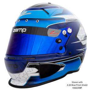 Helmets - Zamp Helmets - Zamp RZ-70E Switch Graphic Helmet - Blue/Light Blue - Snell SA2020 - SALE $419.36 - SAVE $46.59