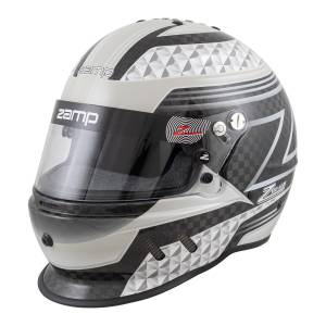 Helmets - Zamp Helmets - Zamp RZ-65D Carbon Graphic Helmet - Black/Gray - Snell SA2020 - SALE $476.96 - SAVE $52.99