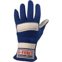 Kids Race Gear - G-Force Racing Gear - G-Force G5 Racing Gloves - Blue - Medium
