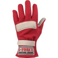 Kids Race Gear - G-Force Racing Gear - G-Force G5 Racing Gloves - Red - Medium