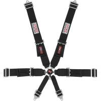 Safety Equipment - Seat Belts & Harnesses - G-Force Racing Gear - G-Force Pro Series 6 Pt. Camlock Restraint - Pull-Down Adjust Lap - Black