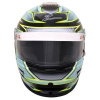 Kids Race Gear - Kids Helmets - Zamp - Zamp RZ-42Y Youth Graphic Snell CMR2016 Helmet - Green/Silver - 54cm